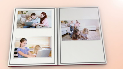 Book showing activities of family