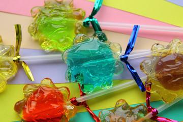 красочные фруктовые конфеты