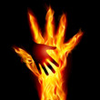 Burning helping hand