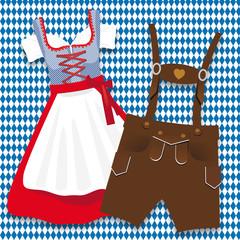 Oktoberfest Dirndl und Lederhosen