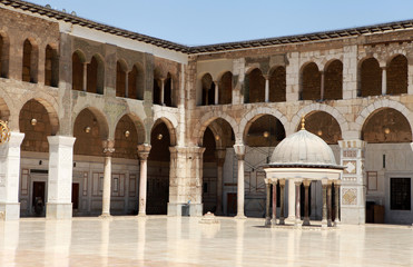 Umayyad Mosque in Damascus, Syria.