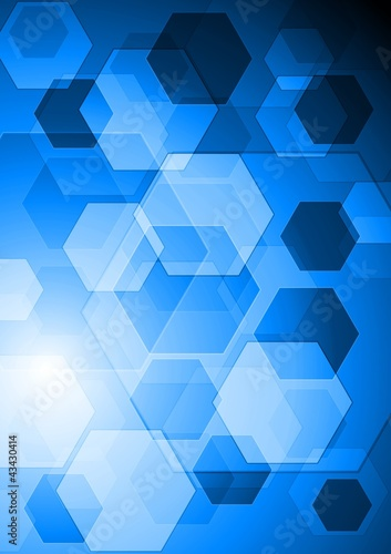 Bright blue hi-tech background