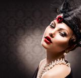 Fototapeta portret - ciemny - Kobieta