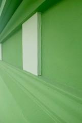 Grüne Stuckwand