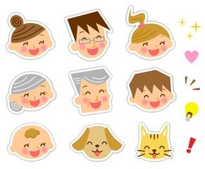 家族 表情 セット