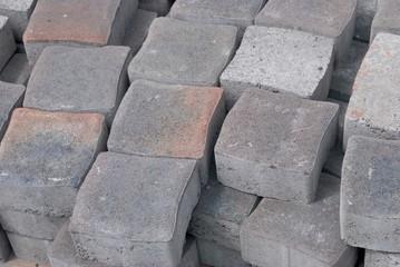 Hintergrund, graue Pflastersteine