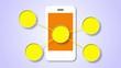 White Smartphone. Infographic elements 1