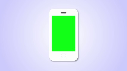 White Smartphone on blue background
