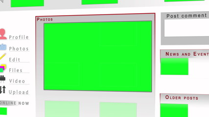 Chroma key screens on a website