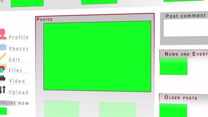 Chroma key screens on a website