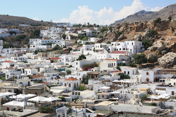 Lindos Village in Rhodes, Greece