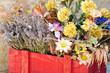 cesta di fiori secchi