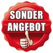Button Sonderangebot mit Daumen