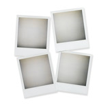 blank polaroid  pictures isolated on white with clipping path