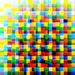 Abstract colorful background from square parts with space for te