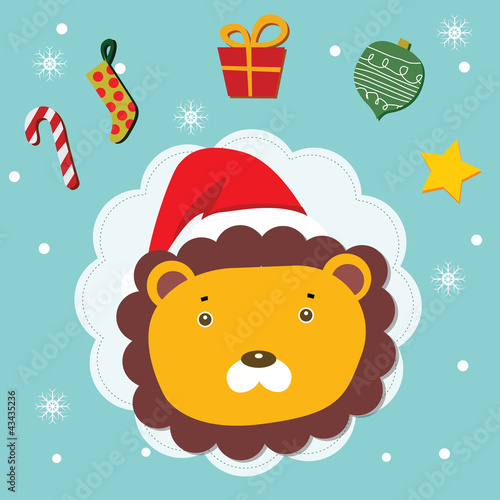 lion christmas celebration