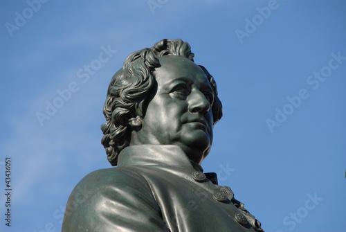 Goethe, Dichter, Denkmal, Nationaltheater, Weimar