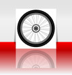 Bike wheel flyer or cover - vector