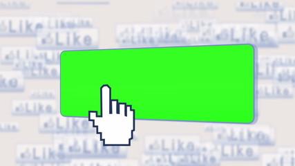 Chroma key screens on a social network