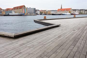 Wooden decking in Copenhagen