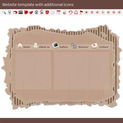 website template - cardboard - esempio di sito web