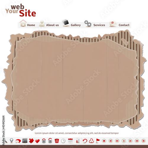 website template - cardboard - sito web