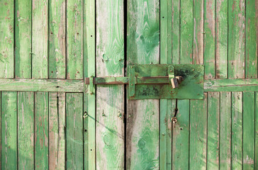lock on the door wood