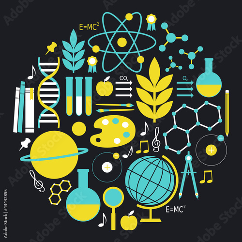 Science and Education Icon Set
