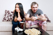 Young Couple Siting On Sofa At Home #2
