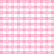 Seamless Gingham and Hearts, pastel pink, EPS has pattern swatch