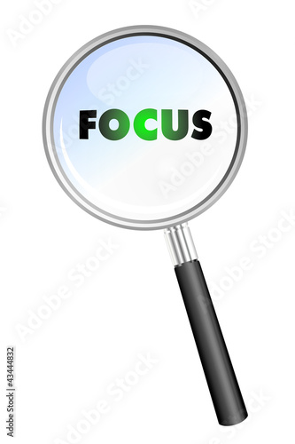 FOCUS MAGNIFYING GLASS cloud sphere ball words