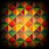 Abstract background with rhombuses pattern poster