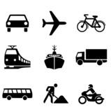 Fototapety Symbole Transportmittel