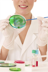Laboratoire d'analyses -  Boite de Pétri