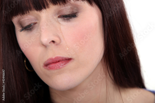 Upset woman crying