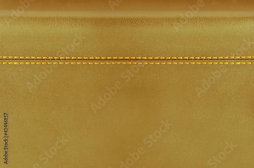 Staande foto Leder golden leather