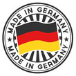 Vector Stamp with flag of the Germany.
