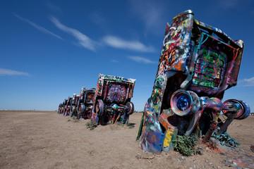 The famous Cadillac Ranch, Amarillo Texas