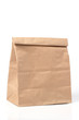 folded paper bag isolated