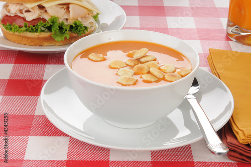 tomato soup with oyster crackers