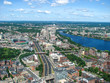 Aerial view of Boston Downtown Area