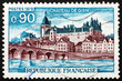 Postage stamp France 1955 Gien Chateau, France