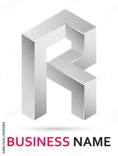 r alphabet design  Vector: Alphabet logo design