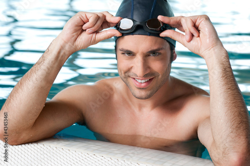 Swimmer at pool
