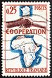 Postage stamp France 1964 French-African Handshake