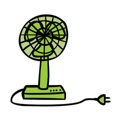 Green Electric Fan