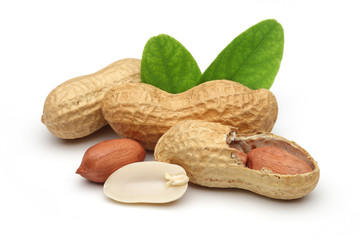 peanuts and leaves