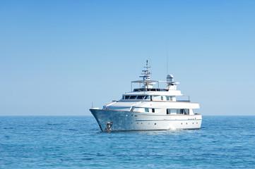 Luxury yacht cruising