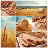 Fototapety Bread and harvesting wheat