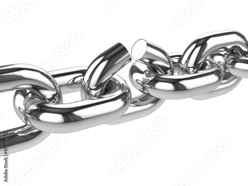 3d Stainless steel chain link breaks